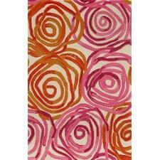 Tivoli Rambling Rose Sunset Orange/Pink Area Rug