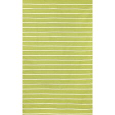 Sorrento Pinstripe Lime Green/Ivory Indoor/Outdoor Area Rug