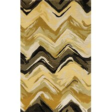 Tivoli Chevron Yellow/Grey Area Rug
