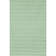 Sorrento Mini Stripe Aqua Indoor/Outdoor Area Rug