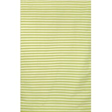 Sorrento Mini Stripe Lime Indoor/Outdoor Area Rug