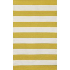 Sorrento Rugby Stripe Yellow/Ivory Indoor/Outdoor Area Rug