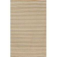 Sorrento Mini Stripe Khaki Brown/Tan Indoor/Outdoor Area Rug