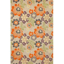 Ravella Purple Floral Outdoor Area Rug
