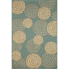 Monterey Ocean Mums Indoor/Outdoor Rug