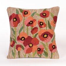 Frontporch Poppies Neutral Throw Pillow
