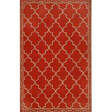 Ravella Floor Tile Red Indoor/Outdoor Rug