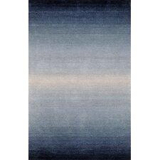 Ombre Blue Denim Horizon Area Rug