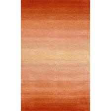 Ombre Orange Horizon Area Rug