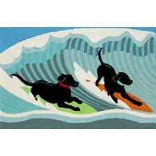 Frontporch Surfing Dogs Doormat