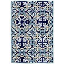 Ravella Floral Tile Blue Area Rug