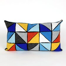 Visions II Triangles Lumbar Pillow