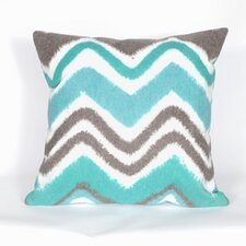 Visions III Zigzag Ikat Throw Pillow