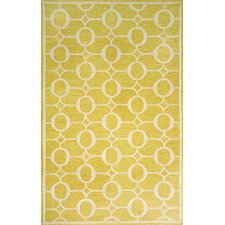 Spello Arabesque Yellow Outdoor Area Rug