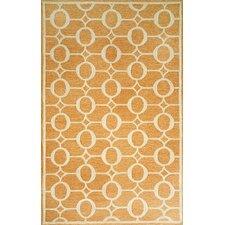 Spello Arabesque Orange Outdoor Area Rug