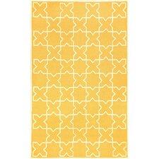 Capri Yellow Moroccan Tile Outdoor Area Rug