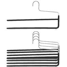 Trouser Non-Slip Hanger Double Rod (Set of 5)