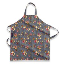 Pansy Red Grey Apron