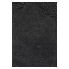 Teppich Lace in Schwarz