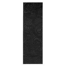 Teppichläufer Lace in Schwarz