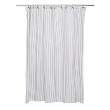 Thin Stripe Cotton Shower Curtain