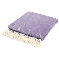 Nine Space Herringbone Cotton Throw Blanket
