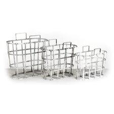 3 Piece Metal Basket Set