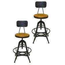 Bruce Adjustable Height Swivel Bar Stool (Set of 2)
