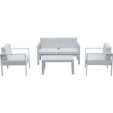 4 Piece Karen Lounge Seating Group with Cushion