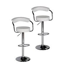 Bonny Adjustable Height Swivel Bar Stool with Cushion (Set of 2)
