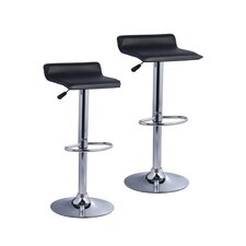 Pax Adjustable Height Bar Stool with Cushion (Set of 2)