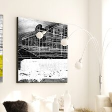 Abstract Vanishing Point Framed Graphic Art