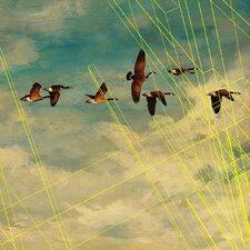 Abstract Birds in Flight Framed Graphic Art