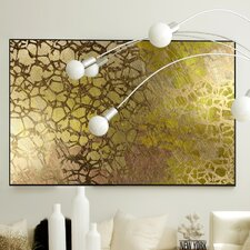 Abstract Golden Nest Framed Graphic Art