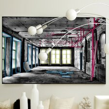 Architecture Lines in Perspective Framed Graphic Art