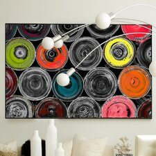 Abstract Liquid Life #6 Framed Painting Print on Canvas