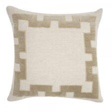 Applique Linen Throw Pillow