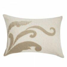 Applique Linen Lumbar Pillow