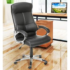 Back Leather Bonded Office Chair
