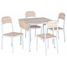 Merax Stylish 5-Piece Dining Set Foldable Dining Table Set