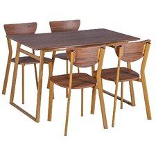 Merax Stylish 5-Piece Dining Set Dining Table Set