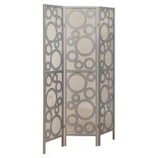 "71"" x 54"" Frame Bubble Design 3 Panel Room Divider"