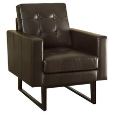 Bonded Leather Match Arm Chair