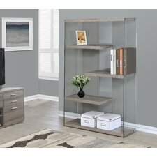 """Reclaimed-Look / Tempered Glass 60"""" Accent Shelves"""