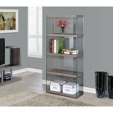 """Tempered Glass 60"""" Standard Bookcase"""