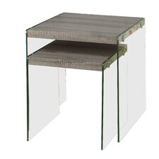 2 Piece Nesting Table Set