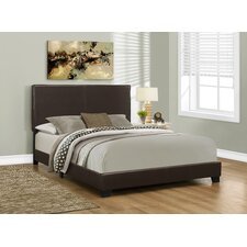 Faux Leather Queen Size Bed