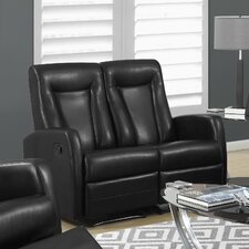 Bonded Leather Reclining Loveseat