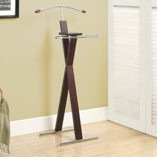 Chrome Metal Bedroom Valet Stand