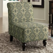 Tapestry Fabric Traditional Slipper Chair